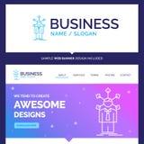 Desenvolvimento bonito da marca do conceito do negócio, humano, networ ilustração royalty free