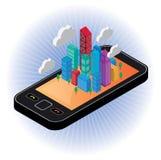 Desenvolvimento com uma comunicação digital Foto de Stock Royalty Free