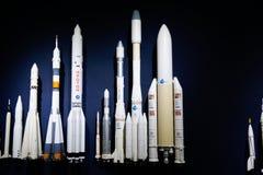 Desenvolvimento de modelos moderno do ofício do espaço da ciência espacial imagens de stock royalty free
