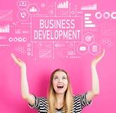 Desenvolvimento de negócios com jovem mulher fotografia de stock