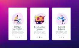 Desenvolvimento do back-end ele molde da relação do app ilustração stock