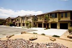 Desenvolvimento do condomínio de Califórnia, Indio Fotografia de Stock