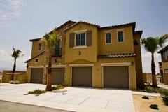 Desenvolvimento do condomínio de Califórnia, Indio Fotos de Stock Royalty Free