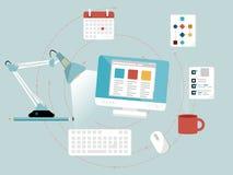 Desenvolvimento do design web Imagens de Stock