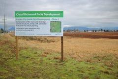 Desenvolvimento do parque da cidade jardim Imagens de Stock Royalty Free