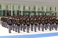 Desenvolvimento dos agentes da polícia no uniforme completo Foto de Stock Royalty Free