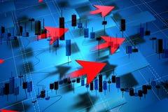 Desenvolvimento econômico e seta Fotografia de Stock
