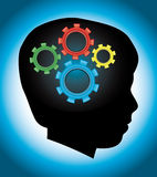 Desenvolvimento infantil, educação, autismo, silhueta Imagens de Stock