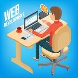 Desenvolvimento isométrico da Web da imagem Fotografia de Stock Royalty Free