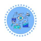 Desenvolvimento liso da visão do projeto do estilo do ícone ilustração do vetor