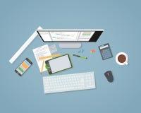 Desenvolvimento liso da Web ilustração do vetor