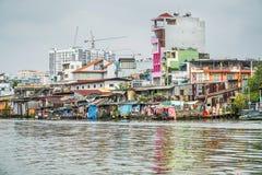 Desenvolvimento Mekong River da construção Imagem de Stock