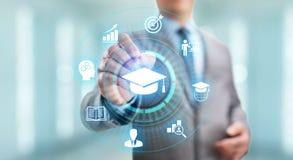Desenvolvimento pessoal do negócio do conhecimento do seminário de Webinar do treinamento em linha do ensino eletrónico da tecnol imagem de stock royalty free