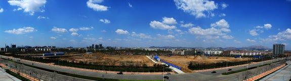Desenvolvimento rápido da construção urbana de China Imagem de Stock