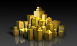 Desenvolvimento urbano Fotos de Stock Royalty Free