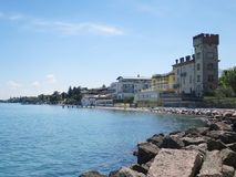 Desenzano布雷西亚意大利加尔达湖 免版税库存照片