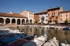 Desenzano港口,加尔达湖 库存照片