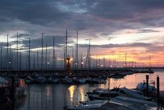 desenzano del与老灯塔的Garda Marina 免版税库存图片