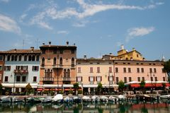Desenzano del Garda. Is a town and comune in the province of Brescia, in Lombardy, Italy, which borders Lake Garda royalty free stock photo