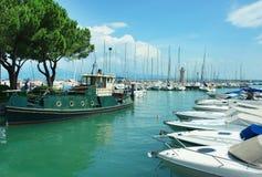 Desenzano del Garda harbor stock photo