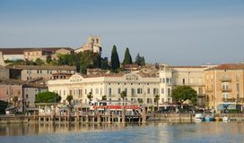 Desenzano del Garda, Landing Stage and Castle royalty free stock photo