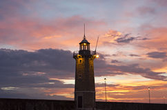 Desenzano Del Garda the old harbor Lighthouse Royalty Free Stock Photo