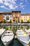 Desenzano del Garda sur le policier de lac Images stock