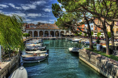 Desenzano del Garda. A view of Desenzano del Garda, near the port Stock Photo