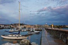 Desenzano del Garda view toward marina and city Stock Photos