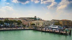 Desenzano,Garda lake,Italy. Harbour stock photo