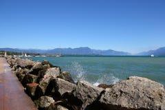 Desenzano Garda lake. Seaview over the Garda lake Desenzano Stock Photography