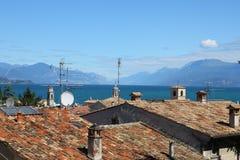 Desenzano Garda lake. Seaview over the Garda lake Desenzano Stock Photo