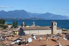 Desenzano Garda lake. Seaview over the Garda lake Desenzano Stock Image