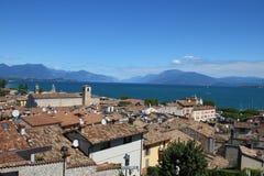 Desenzano Garda lake. Seaview over the Garda lake Desenzano Royalty Free Stock Image