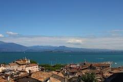 Desenzano Garda lake. Seaview over the Garda lake Desenzano Royalty Free Stock Images
