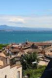 Desenzano Garda lake. Seaview over the Garda lake Desenzano Stock Images