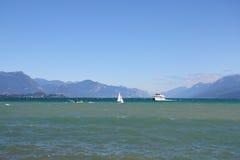 Desenzano Garda lake. Seaview over the Garda lake Desenzano Royalty Free Stock Photos
