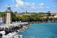 Desenzano Garda Seeleuchtturm Stockfotografie