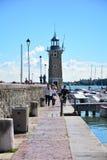Desenzano Garda Seeleuchtturm Stockfotos