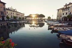 Desenzano Harbor in Desenzano del Garda Stock Images