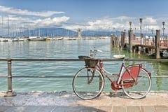 Desenzano harbour, Garda lake Royalty Free Stock Photo