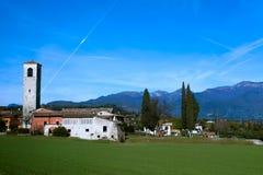 Desenzano, Italië. (kerk) Stock Fotografie