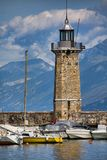 Desenzano lighthouse Royalty Free Stock Photography