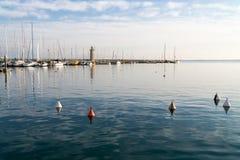 Desenzano lighthouse, Garda lake, Italy Stock Images