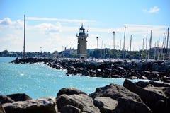 Desenzano town lighthouse Royalty Free Stock Image