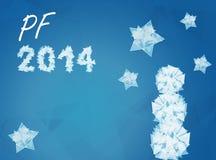 Deseo al Año Nuevo 2014 stock de ilustración