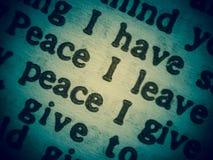 Deseo de la paz Imagenes de archivo
