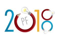 Deseo de New Year del diseñador gráfico stock de ilustración