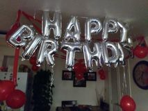Deseo del cumpleaños imágenes de archivo libres de regalías