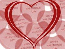 Deseo del día de tarjeta del día de San Valentín Imágenes de archivo libres de regalías